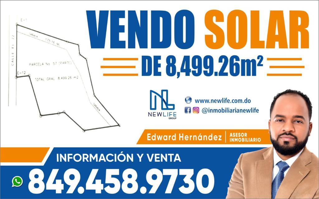 SOLAR EN VENTA 8,429.26 M2, CALLE PUENTE BLANCO, LA PIÑA, LOS ALCARRIZOS